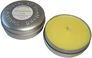 Midge candle in tin made with citronella,